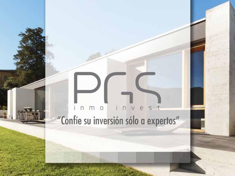 Cartel comercial de la agencia inmobiliaria PGS Inmovest