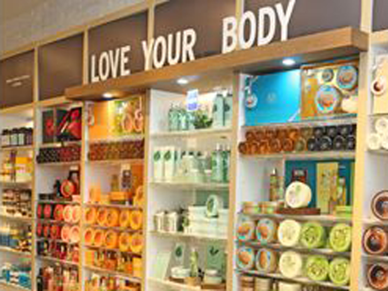 Productos de la franquicia de The Body Shop
