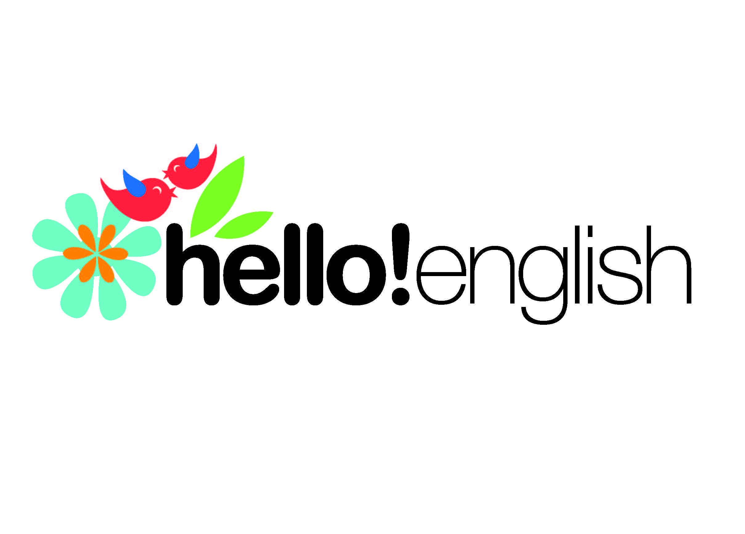 logo hello! english academia idiomas