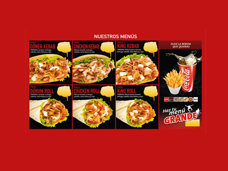 Productos de ADK (Abbasid Döner Kebab)