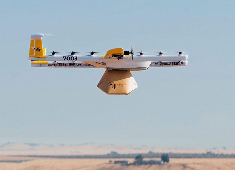 Google recibe el aprobado para realizar envíos de paquetería con drones