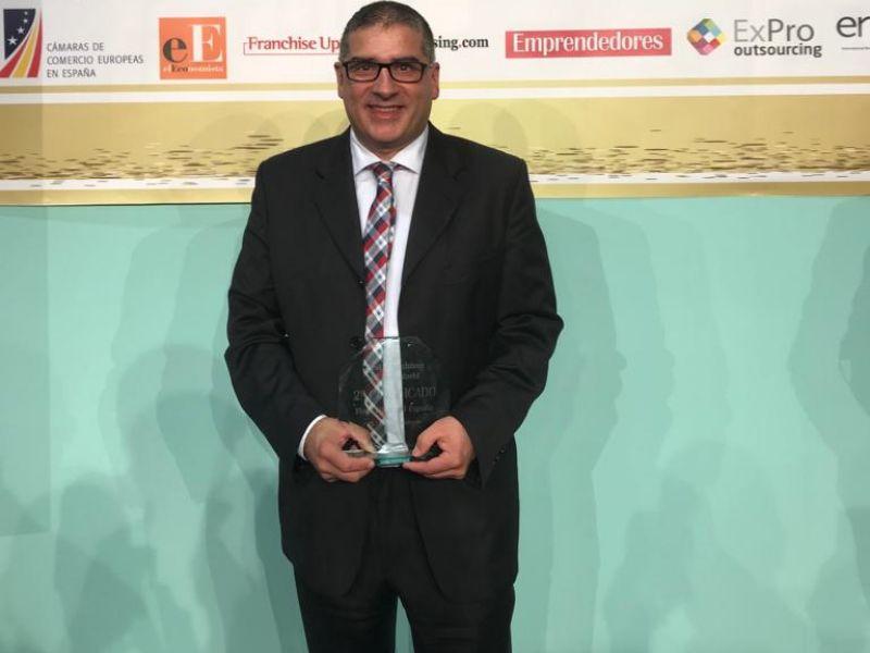 Rogelio González, franquiciado de Interdomicilio en Asturias qued'o en segundo lugar